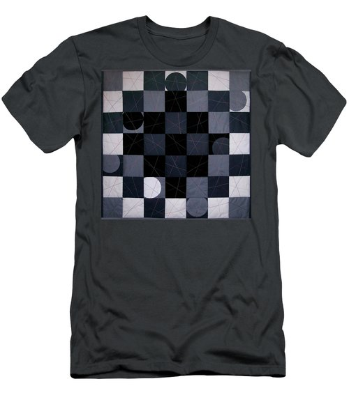 Checkerboard And Pick-up-sticks Men's T-Shirt (Athletic Fit)