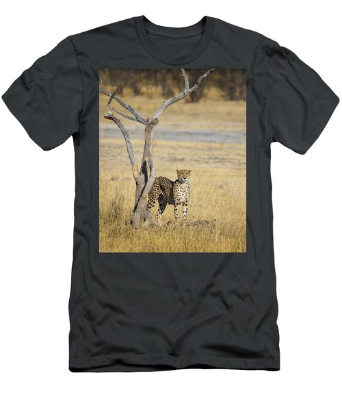 Men's T-Shirt (Athletic Fit) featuring the photograph Cheetah by John Rodrigues
