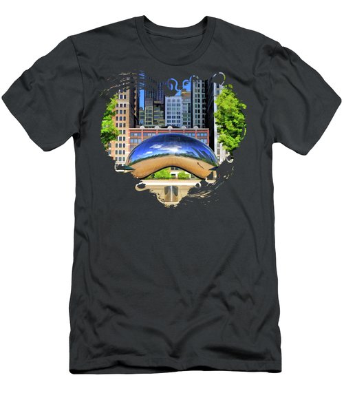 Chicago Cloud Gate Park Men's T-Shirt (Athletic Fit)
