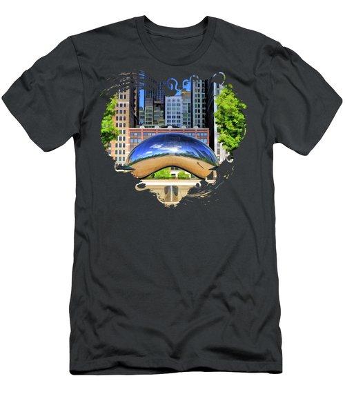 Chicago Cloud Gate Park Men's T-Shirt (Athletic Fit)