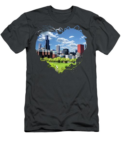 Chicago Historic Michigan Avenue Men's T-Shirt (Athletic Fit)
