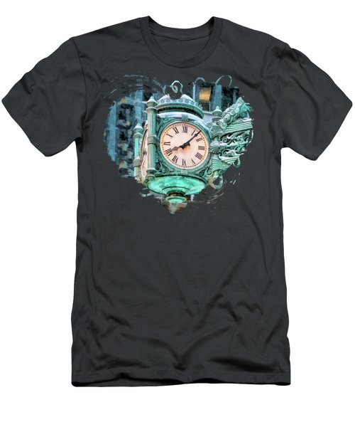 Chicago Marshall Field State Street Clock Men's T-Shirt (Athletic Fit)