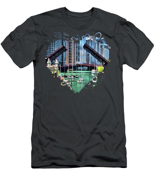 Chicago River Boat Migration Men's T-Shirt (Athletic Fit)