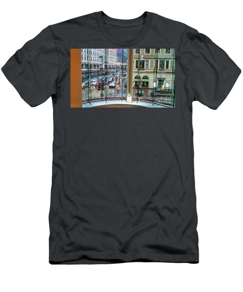 Men's T-Shirt (Athletic Fit) featuring the photograph Chicago Streets by Rosanne Licciardi