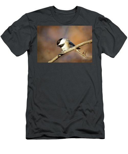 Men's T-Shirt (Athletic Fit) featuring the photograph Chickadee by Sue Collura