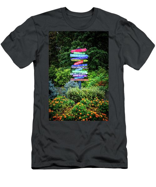Men's T-Shirt (Athletic Fit) featuring the photograph Choices - Finger Lakes, New York by Lynn Bauer