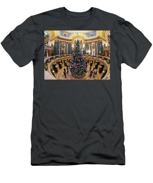 Christmas Tree -capitol - Madison - Wisconsin 1 Men's T-Shirt (Athletic Fit)