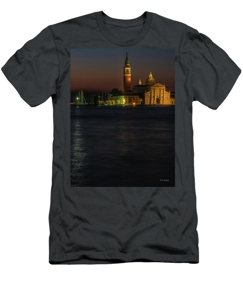 Men's T-Shirt (Athletic Fit) featuring the photograph Church Of San Giorgio Maggiore Before Sunrise by Tim Bryan