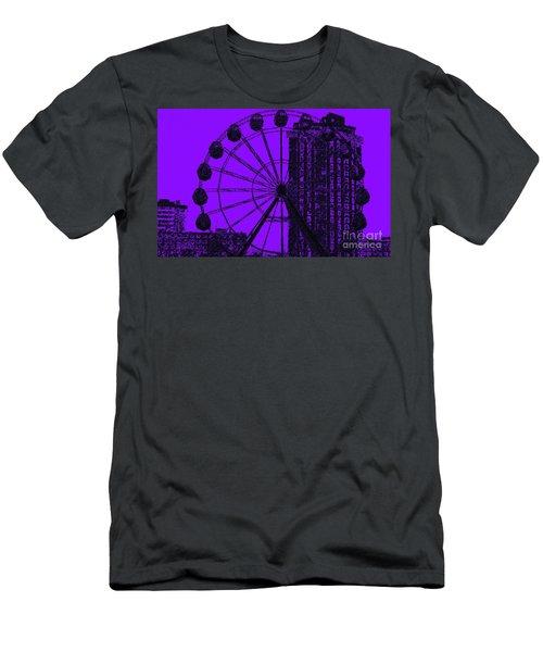 Cityscape In Blue Men's T-Shirt (Athletic Fit)