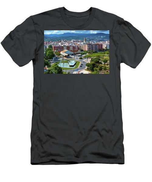 Cityscape In Reus, Spain Men's T-Shirt (Athletic Fit)