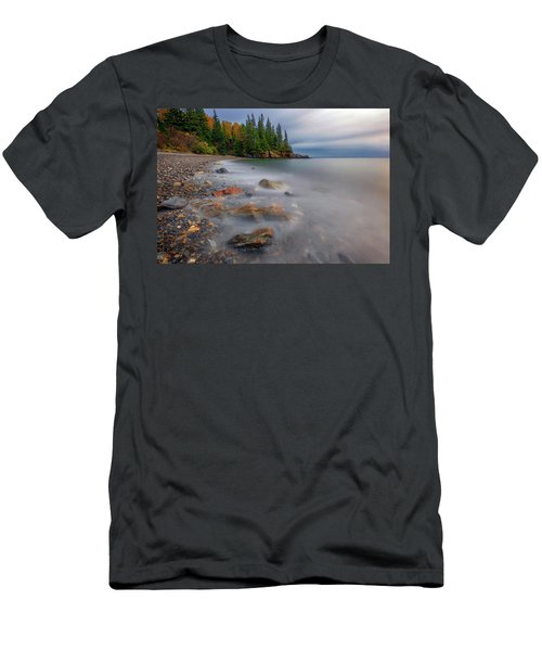 Men's T-Shirt (Athletic Fit) featuring the photograph Clearing Storm At Owl's Head by Rick Berk
