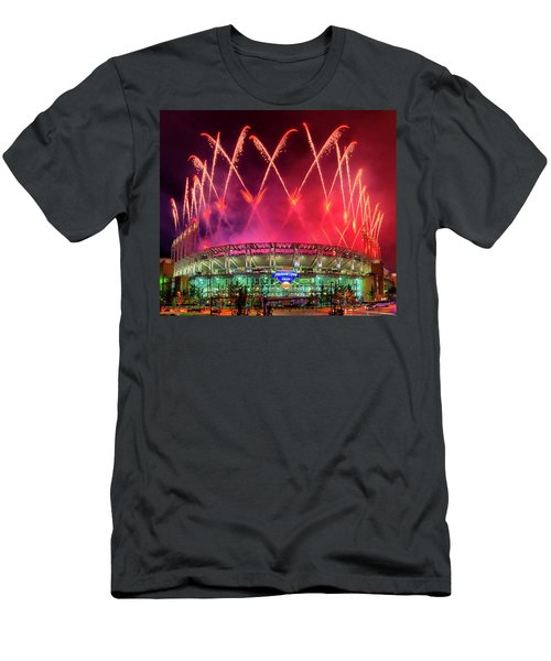 Cleveland Indians Fireworks Men's T-Shirt (Athletic Fit)