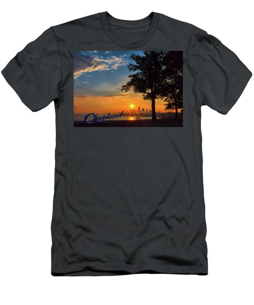Cleveland Sign Sunrise Men's T-Shirt (Athletic Fit)