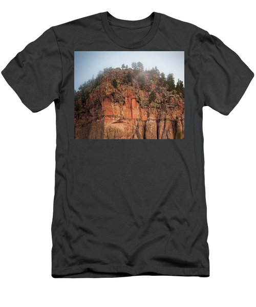 Men's T-Shirt (Athletic Fit) featuring the photograph Cliff Face Hz by Jeff Phillippi