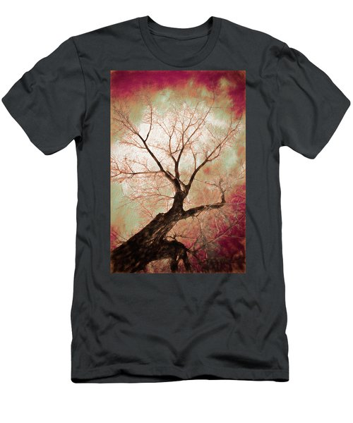 Men's T-Shirt (Athletic Fit) featuring the photograph Climbing Red Fiery by James BO Insogna