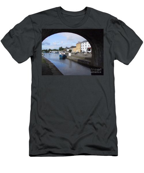 Men's T-Shirt (Athletic Fit) featuring the painting Cloondara,a Shannon By Way. by Val Byrne