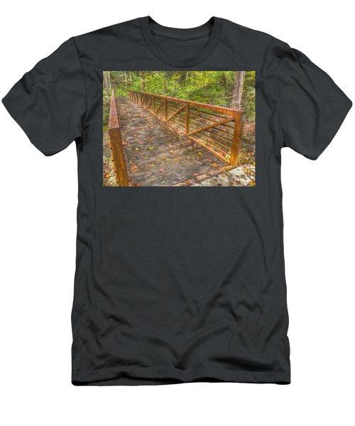 Close Up Of Bridge At Pine Quarry Park Men's T-Shirt (Athletic Fit)