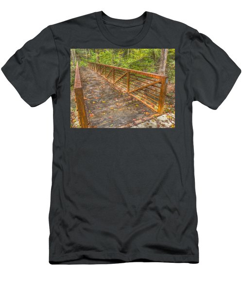 Close Up Of Bridge At Pine Quarry Park Men's T-Shirt (Athletic Fit)