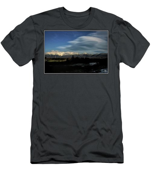 Men's T-Shirt (Athletic Fit) featuring the photograph Cloud Lens Over The Presidential Range by Wayne King