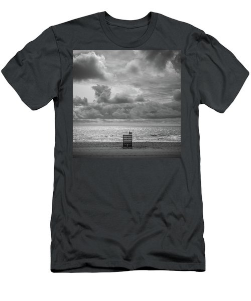 Cloudy Morning Rough Waves Men's T-Shirt (Athletic Fit)