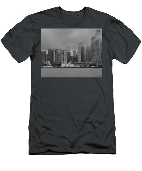 Cloudy Skyline Men's T-Shirt (Athletic Fit)