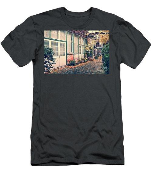Cobbled Street In Paris Men's T-Shirt (Athletic Fit)
