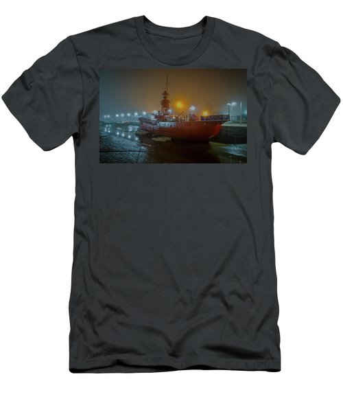 Men's T-Shirt (Athletic Fit) featuring the photograph Colne Lightship In The Fog by Gary Eason