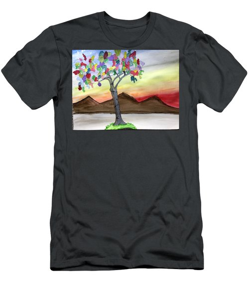 Colored Tree Men's T-Shirt (Athletic Fit)