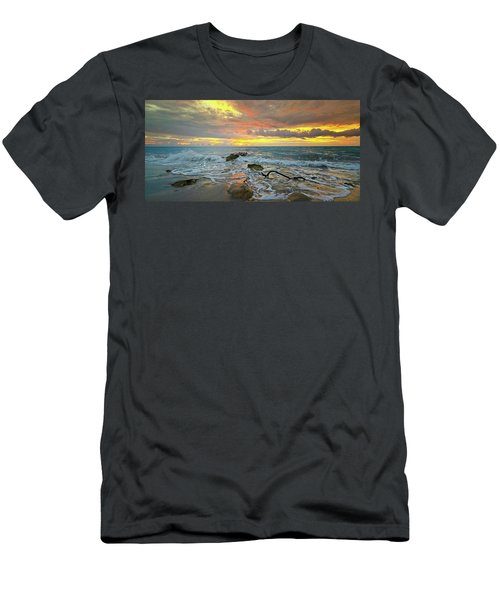 Colorful Morning Sky And Sea Men's T-Shirt (Athletic Fit)