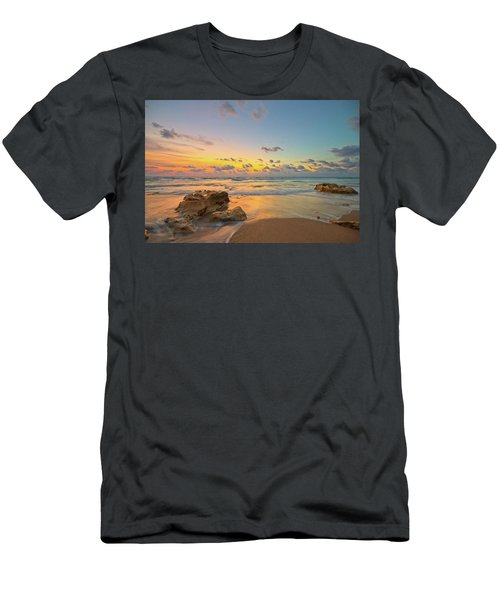 Colorful Seascape Men's T-Shirt (Athletic Fit)