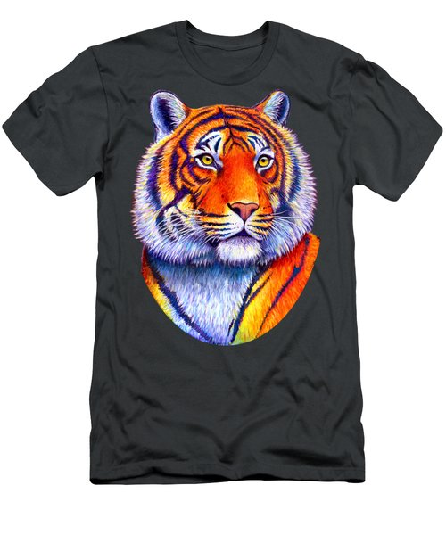 Colorful Tiger Men's T-Shirt (Athletic Fit)