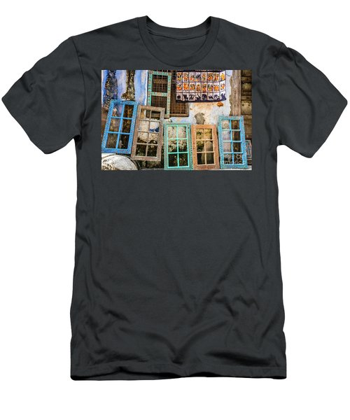 Colorful Window Frames Men's T-Shirt (Athletic Fit)