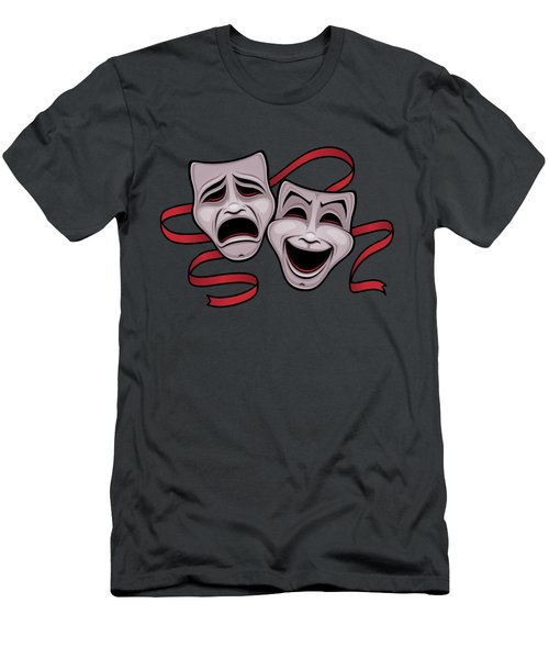 Comedy And Tragedy Theater Masks Men's T-Shirt (Athletic Fit)