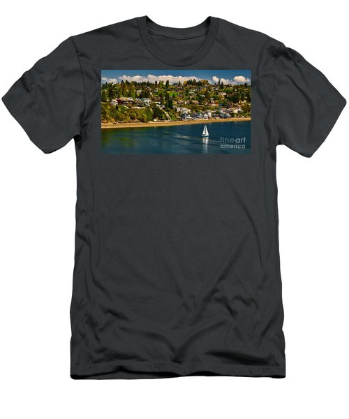 Commencement Bay,washington State Men's T-Shirt (Athletic Fit)