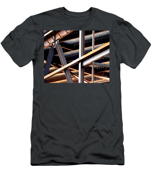 Construction Abstract Fragments Men's T-Shirt (Athletic Fit)