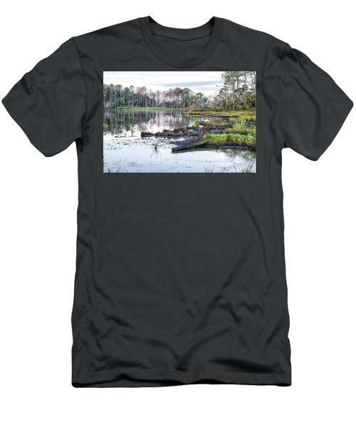 Coosaw - Early Morning Rice Field Men's T-Shirt (Athletic Fit)