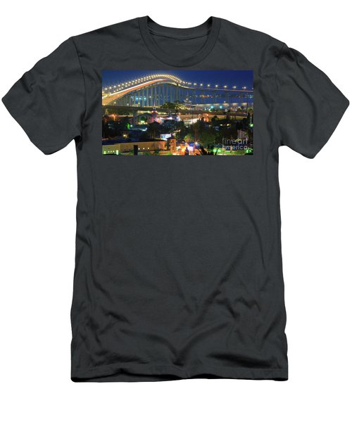 Coronado Bay Bridge Shines Brightly As An Iconic San Diego Landmark Men's T-Shirt (Athletic Fit)