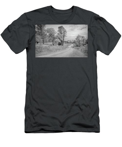 Men's T-Shirt (Athletic Fit) featuring the photograph Country Road by John M Bailey
