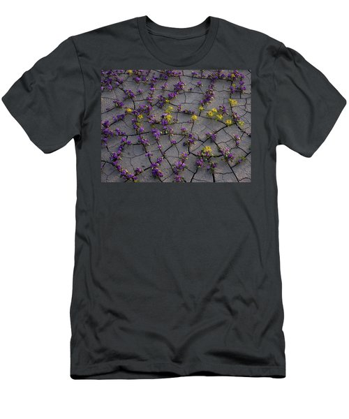 Cracked Blossoms II Men's T-Shirt (Athletic Fit)