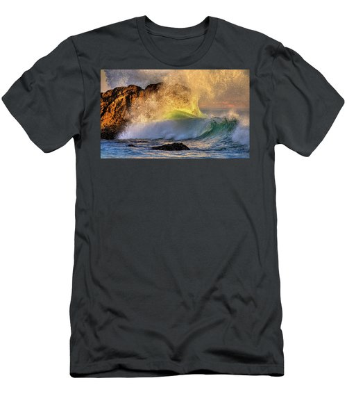 Crashing Wave Leo Carrillo Beach Men's T-Shirt (Athletic Fit)