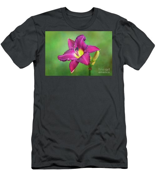 Glorious Crimson Daylily Men's T-Shirt (Athletic Fit)