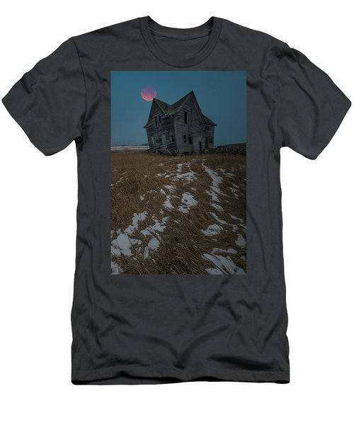 Men's T-Shirt (Athletic Fit) featuring the photograph Crooked Moon by Aaron J Groen