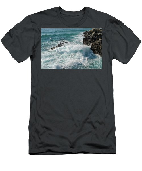 Crushing Waves In Porto Covo Men's T-Shirt (Athletic Fit)