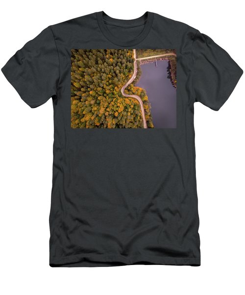 Curved Road At Lakeside Men's T-Shirt (Athletic Fit)
