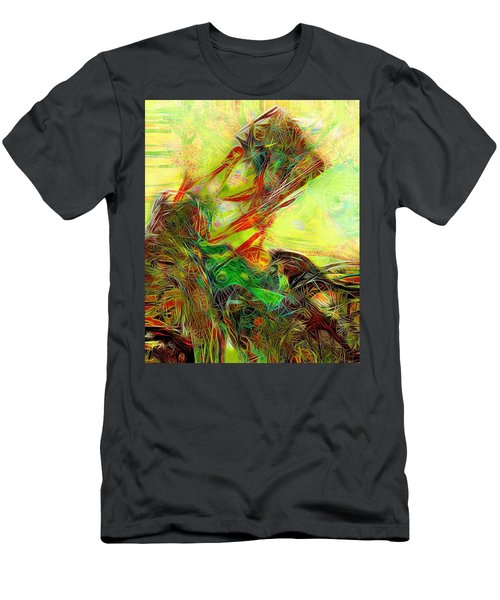 Men's T-Shirt (Athletic Fit) featuring the painting Da1  by Arttantra