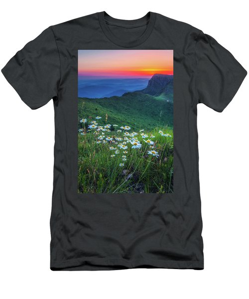 Daisies In The Mountain Men's T-Shirt (Athletic Fit)