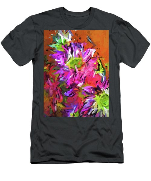 Daisy Rhapsody In Purple And Pink Men's T-Shirt (Athletic Fit)