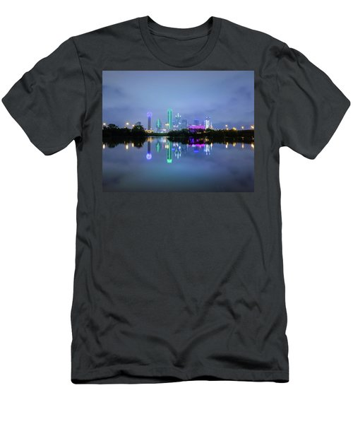 Dallas Cityscape Reflection Men's T-Shirt (Athletic Fit)