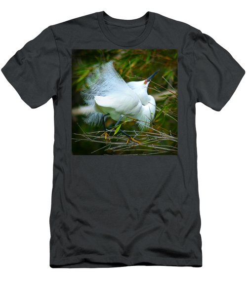 Dancing Egret Men's T-Shirt (Athletic Fit)