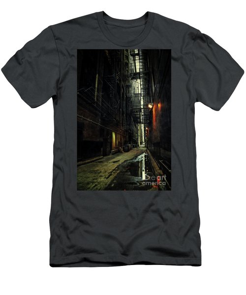 Dark Chicago Alley Men's T-Shirt (Athletic Fit)